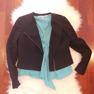 Rachel Roy Black Asymmetrical Shauna Blazer Size 6